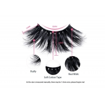 60pcs/Set Private Label 25mm Thick Mink Eyelash