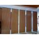 Soundproof Wooden Movable Partition Walls / Folding Partition Wall Systems for sale