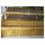Convenient Store Wooden Retail Display Stand / Wooden Display Shelf for sale