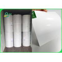China 100gsm white kraft paper with 10gsm Oil resistant PE bleached kraft paper in roll for sale