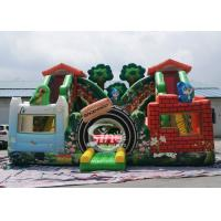 China Jungle theme kids backyard inflatable amusement park with digital printing for outdoor fun for sale