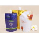 Customize Handle Plastic Doypack Liquid Nozzle Spout Bags For Laundry Detergent for sale