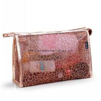 China customized promotional waterproof plastic zipper pvc cosmetic bag stand up pvc bag supplier