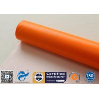 0.45mm Chemical Corrosion Resistant Orange Silicone Coated Fiberglass Cloth Fabric for sale