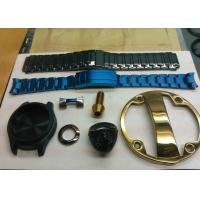China Watch Case Decorative Blue Color PVD Plating Service , Watch  Metal Chain DLLC  Black Coating Service supplier