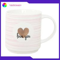 China Stackable Ceramic Coffee Mug Set 480ml Capacity Disherwasher Safe Customized Logo supplier
