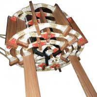 Safe Marine Rope Ladder 24Kn Breaking Strength Wood And Manila Material for sale