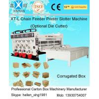 China Pneumatic Locking Automatic Lubrication Carton Printing Slotting Machine With Gear Pumps for sale
