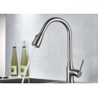 China ROVATE Long Neck Pull Down Spout Kitchen Faucets 360 Degree Rotation Body supplier