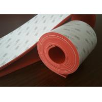 Flexible Dark Red Silicone Rubber Sheet With 3M Adhesive Backed for sale