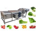 China Bubble Type Ozone Vegetable Washing Machine , Strawberry Cherry Fruit Washing Equipment for sale