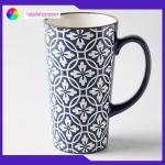 China 440ml Stoneware Coffee Mugs Large Capacity Tall With Personalised Logo for sale
