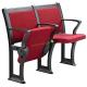 Comfortable Soft Red Fabric Lecture Hall Seating / Student Classroom Chairs for sale