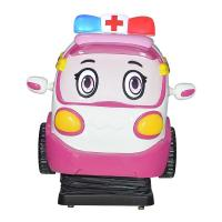 China Cute Outlook Design Pink Color Kiddie Ride Battery Car Game Machine for sale