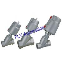 2000 Threaded Port 2/2 Way Angle Seat Valve Integrated Pneumatic PPS Actuator for sale