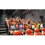 China 2200W 380V 5D Movie Theater Ocean Park 5D Motion Cinema Arc Screen for sale