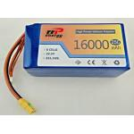 6S1P 16000mAh 22.2V 355.2watt  li-polymer battery pack for UAV 25c discharge