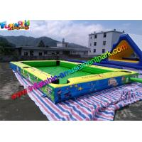 China Double Stitch Inflatable Games Rentals Snooker Field With Full Printing supplier