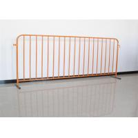 China Stainless Steel Temporary Fence Crowd Control Barriers For Portable Pedestrian for sale