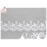 Polyester Width 3CM Ribbon Embroidered Lace Trim For Wedding Dress for sale