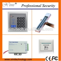 China Door access control kits including 180kg electronic lock, plastic exit button,12V3A power supply smart door access control sets for sale