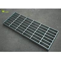 Industrial Galvanized Mesh Grating Plain Serrated Bar Grid Step Treads Plate for sale