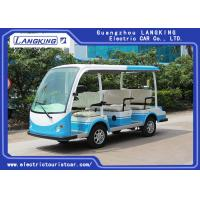 China CE Approved Open Top Sightseeing Car 48V DC System 8 Passenger Mini Bus 4 Wheel electric mini bus /shuttle bus for sale
