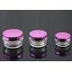 PMMA covered Plastic Cream Jars with a magenta shell  30ml for sale