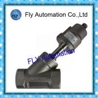 China 2000 Threaded Port 2/2 Way Angle Seat Valve Integrated Pneumatic PPS Actuator supplier