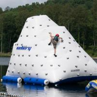 Funny Inflatable Water Iceberg / 0.9mm PVC Tarpaulin Plato Water Jumping Games for sale