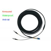 China Waterproof Armoured Duplex Fiber Patch Cord Indoor 5.0mm Anti - Rat DX LC FC for sale
