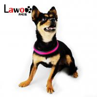 China Rechargeable Airmesh Material Led Dog Harness , Easy Walk Dog Collar for sale