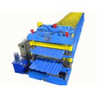 3 Phase Colored Steel Glazed Tile Roll Forming Machine With 1 Year Warranty for sale