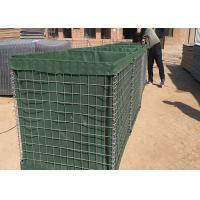 Longlife Hesco Bastion Barrier , Green Hesco Gabion Box Filled With Sand for sale