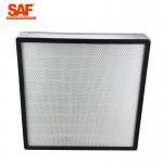 China H13 H14 Industrial Hepa Filter Mini Pleated Aluminum Galvanized SS Frame Glass Fiber Media for sale