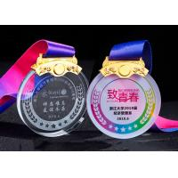 China White Transparent Crystal Metal Award Medals For Kids In Drawing Competion for sale