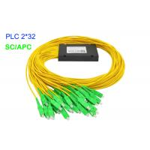 China 2×32 ABS Box Fiber Optic PLC Splitter 3.0 mm G657A1 SC/APC 17.2 dB G657A1 for sale