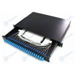 Cold Rolling Steel Sliding Fiber Optic Patch Panel 1U 24 Port SC 24 Cores for sale