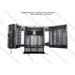 DC Magnetron Sputtering Coating Machine on Glass Mirrors , Titanium Ti Glass Mirror Vacuum Metallizing Equipment for sale