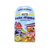 4.13*7.56'' Custom Size Professional Book Printing Farm Friends Activity Pad for sale