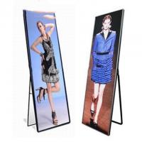 Event Show Indoor Full Color LED Display Stand Poster Light Box 4500cd/㎡ Brightness for sale