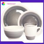 China Ceramic Dinnerware Set stoneware coffee mug 5.5inch bowl hand painted dessert plates for sale
