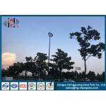Hot Dip Galvanised High Mast Light Pole For Commercial Area With Lifting System for sale