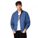 China Full Sleeve Denim Fabric Casual Jean Jackets / Adult Blue Denim Jacket for sale
