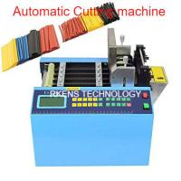 English Language Automatic Webbing Cutter For Heat Shrink / PVC Sleeve Tubing for sale