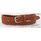 Tan Geniune Leather Braided Belt For Lady With Nickel Satine Buckle & Leather Tip for sale