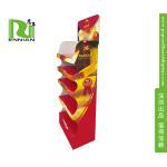 Printing 5 Tier Bread / Snack Cardboard Floor Displays Rack For Promotion for sale