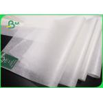 China Oil Proof Greaseproof Paper Roll / Food Grade White Baking Paper With Logo Customized for sale