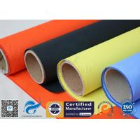China Fireblanket Fiberglass Silicone Coated Fiberglass Fabric Fireproof Cloth for sale