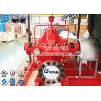 China Ductile Cast Iron Material Red Color Split Case Fire Water Pump With UL Listed for sale